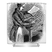 Typesetter, 19th Century Shower Curtain