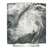 Typhoon Haikui Makes Landfall Shower Curtain