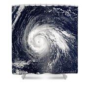 Typhoon Higos Shower Curtain
