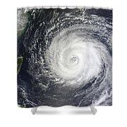 Typhoon Muifa East Of Taiwan Shower Curtain