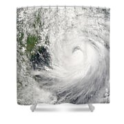Typhoon Prapiroon Shower Curtain