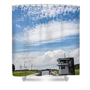 Typical Dutch Lock And Control Room Shower Curtain