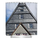 Typical Houses In The Center Of The Shower Curtain