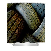 Tyres Shower Curtain