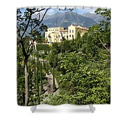 Tyrolean Alps And Palace Shower Curtain