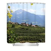 Tyrolean Alps And Vineyard Shower Curtain