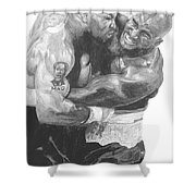 Tyson Vs Holyfield Shower Curtain