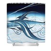 U2 Spyfish - Spy Plane As Abstract Fish - Shower Curtain
