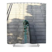 Uc Berkeley . Sather Tower . The Campanile . Clock Tower . Bust Of Abraham Lincoln . 7d10070 Shower Curtain