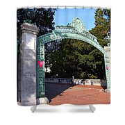 Uc Berkeley . Sproul Plaza . Sather Gate . 7d10039 Shower Curtain