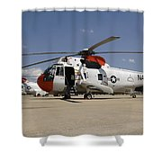 Uh-3h Sea King Helicopters Based Shower Curtain