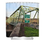 Uhlerstown Frenchtown Bridge Shower Curtain