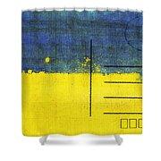 Ukraine Flag Postcard Shower Curtain