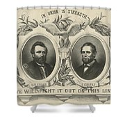 Ulyssess S Grant And Schuyler Colfax Republican Campaign Poster Shower Curtain