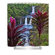 Umauma Falls Big Island Hawaii Shower Curtain