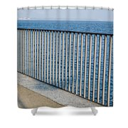Umbrella And Fence Shower Curtain