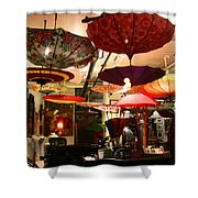Umbrella Art Shower Curtain by Kym Backland