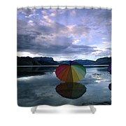 Umbrella Beach Shower Curtain