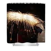 Umbrella Of Sparks Shower Curtain