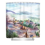 Umbrian Paradise Shower Curtain