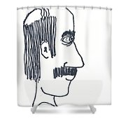 Uncle Lefty Shower Curtain
