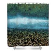 Under An Ocean Wave Shower Curtain