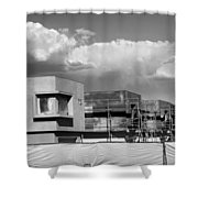 Under Construction Bw Palm Springs Shower Curtain