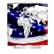 Under Protection Map Shower Curtain