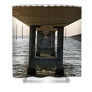Under Seven Mile Bridge Shower Curtain