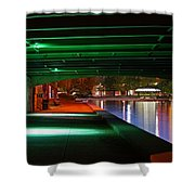Under The Bridge Shower Curtain by Joann Vitali