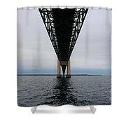 Under The Mackinac Bridge Shower Curtain