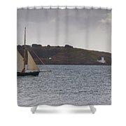 Under Way Reefed In Shower Curtain