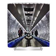 Underground Network Shower Curtain