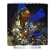 Underwater Bouquet Formed By Cluster Shower Curtain