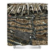Unexploded Ordnance Ready Shower Curtain
