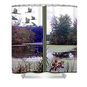 Unicorn Lake - Cross Your Eyes And Focus On The Middle Image Shower Curtain
