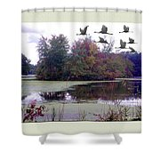 Unicorn Lake - Geese Shower Curtain