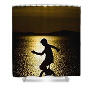 Unicycling Silhouette Shower Curtain