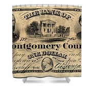 Union Banknote, 1865 Shower Curtain