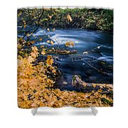 Union Creek In Autumn Shower Curtain