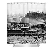 Union Locomotive, C1864 Shower Curtain