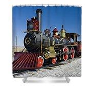 Union Pacific 119  Left Shower Curtain