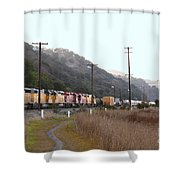 Union Pacific Locomotive Trains . 7d10558 Shower Curtain
