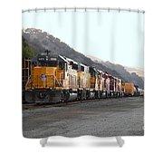 Union Pacific Locomotive Trains . 7d10561 Shower Curtain