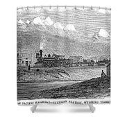 Union Pacific Station, 1869 Shower Curtain
