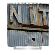 Unite Weathered Sign Shower Curtain