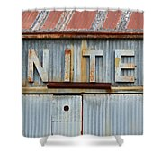 United Rusted Metal Sign Shower Curtain