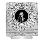 United States, 1787 Shower Curtain