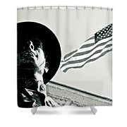 United We Stand Theme Shower Curtain