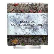 Unknown Confederate Soldier Shower Curtain by Renee Trenholm